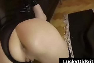 Older British guy films wife in stockings licking pretty longhaired lesbian
