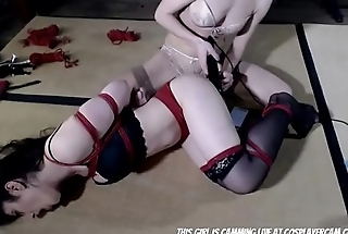Cute Little Lesbian Tying Her Girlfriend...