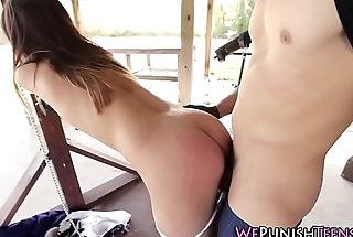 Teen student rough fucked