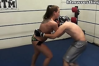 She Fights Like a Beast - Femdom MMA Beatdown