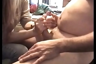 My neighbor from down the street jacking my cock