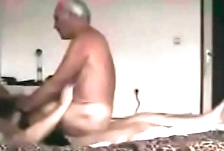 Grandpa rides on the other man'_s penis