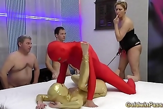 crazy fetish spandex groupsex orgy