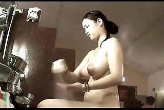Japanese bath house monster tits