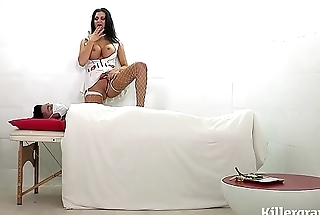 Hot big boobs Nurse Milf milks patients cock