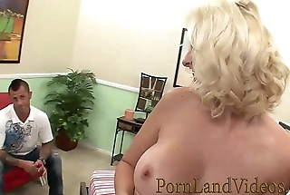 sexy blonde wife Mandy Sweet cheating revenge with huge cock