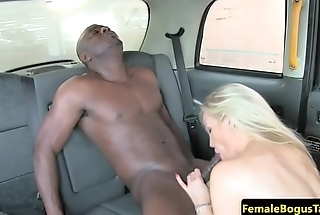 Taxi babe fucked by black prick