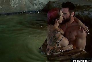 PORNFIDELITY Anna Bell Peaks Pounded Poolside