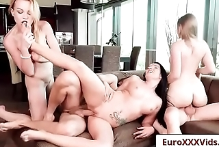 Euro Sex Party - Fucking With Friends with Lady Bug and Rebecca Black and Lucia Denvile clip-05