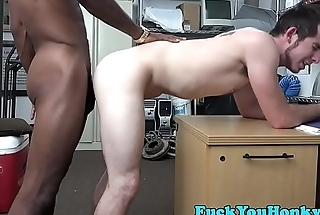 Bareback interracial anal fucks straight guy