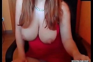 Curvy slut with huge tits teasing