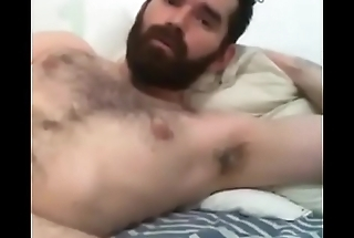 Horny beefy bear caught masturbating in chat