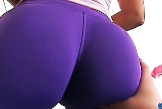 BIG ASS In Tight SPANDEX MAID has Sexy Cameltoe n Big Tits.