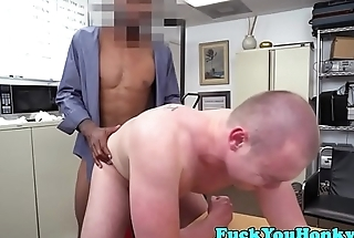 Straight casting honky assfucked by bbc