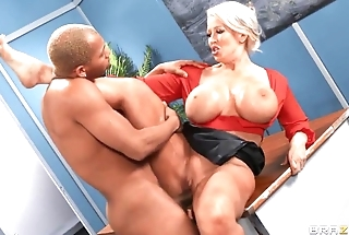 Horny MILF teacher gets takes young BBC in class