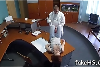 At final hot doctor reaches orgasm
