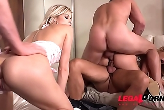 Ultra Intense DP for Alexis Crystal &amp_ Ria Sunn by 3 Big Dicked Studs